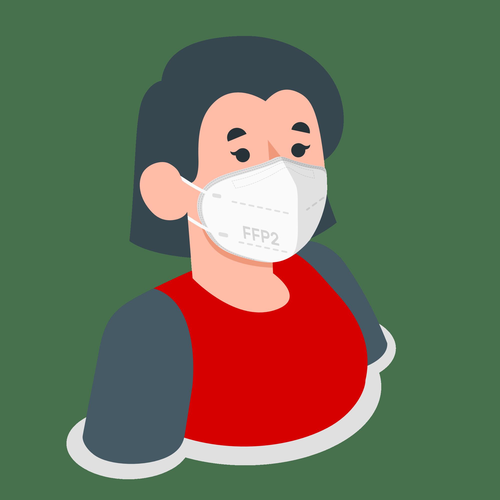 women waering mask