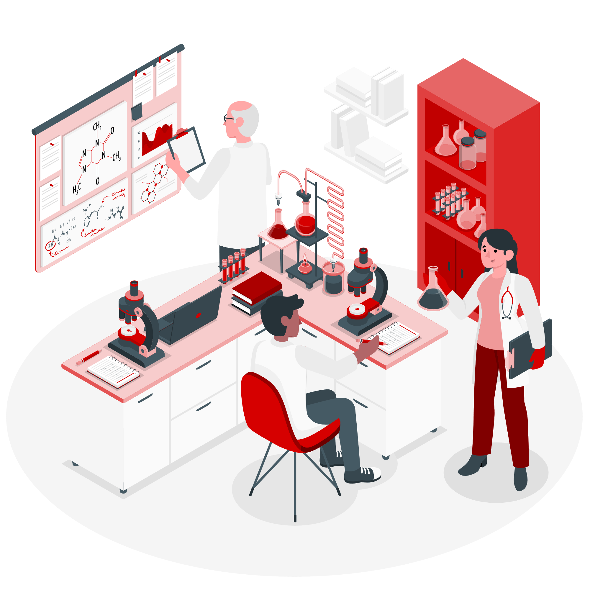 Doctors working in Laboratory